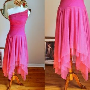 Vintage Pink Chiffon Camilla Fairy Dress